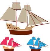 Plachty lodi vektorové vinobraní