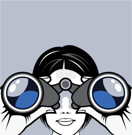 Illustration for Binoculars Vector - Royalty Free Image