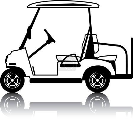 Golf Cart white