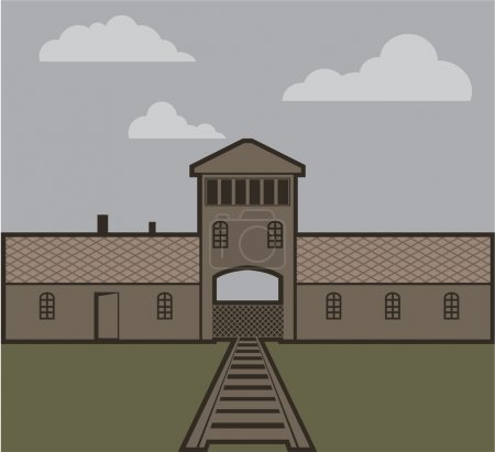 Concentration Camp vector illustration...