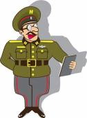Military officer cartoon vector