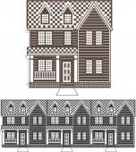 TownHouse row of townhomes vector