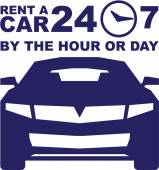 Car rentals by the hour or day 24-7