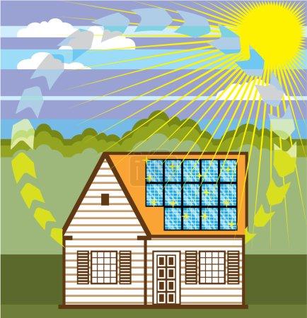 Solar Renewable Energy Eco Efficient Vector