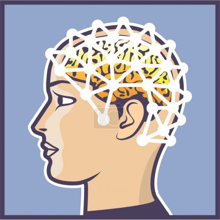 EEG brainwave reading Vector