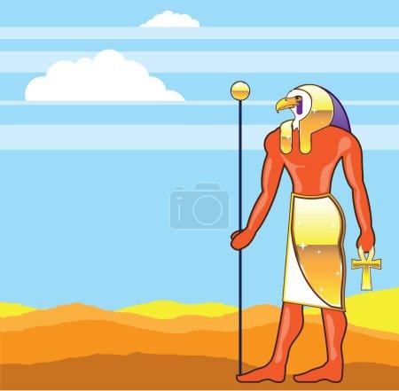 Egyptian God Vector Eagle Head Golden Vector