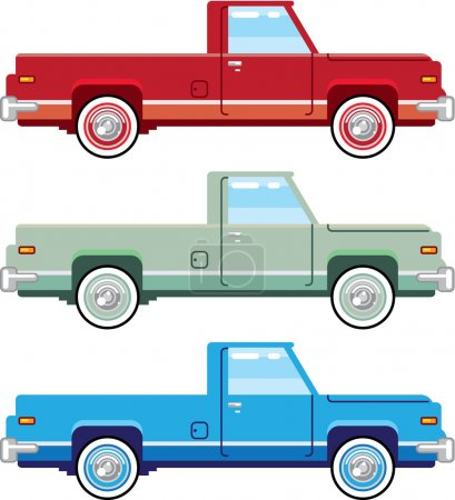 Stylized Vector Old Pickup Truck vector