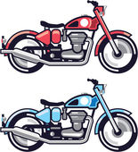 Vintage Motorcycle stylized vector