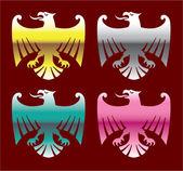 Color Glossy Chrome Eagles Vector Art