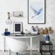 Stylish workplace in interior of room...