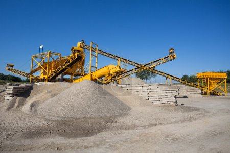 Photo for Sorting plant - mining industry - Royalty Free Image