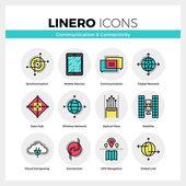 Komunikační technologie Linero ikony Set
