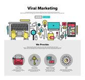 Virální marketing plochý webové grafiky