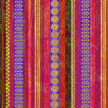 Background with colorful textured stripes