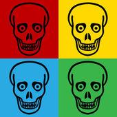 Pop art zombie symbol icons