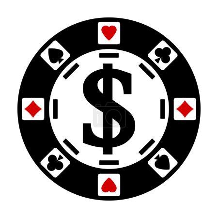 Casino chip.