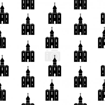 Orthodox church seamless pattern.