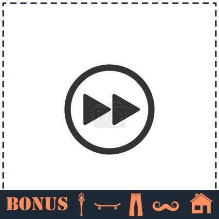 Rewinding icon flat. Simple vector symbol and bonu...