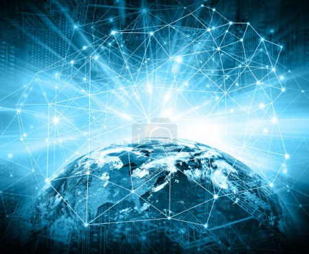 Meilleur Concept d'Internet des affaires de concepts série. Éléments de cette image fournie par la Nasa