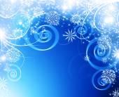 Sněhové vločky a hvězdy na pozadí