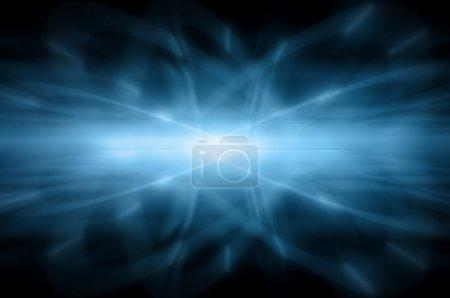 Photo pour Fond bleu abstrait, belles lignes et flou - image libre de droit