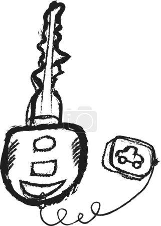 Photo pour Clefs de voiture de dessin animé - image libre de droit