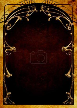 Art Nouveau Backgrounds and Frames...