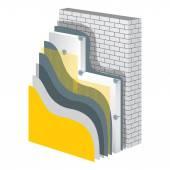 Thermal Insulation Polystyrene Isolation Vector Illustration