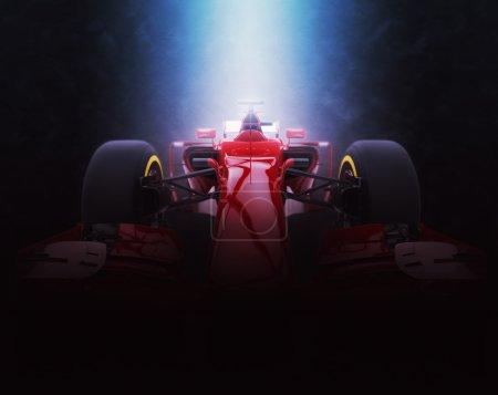 Photo pour Formule rouge une voiture - éclairage épique - Illustration 3D - image libre de droit