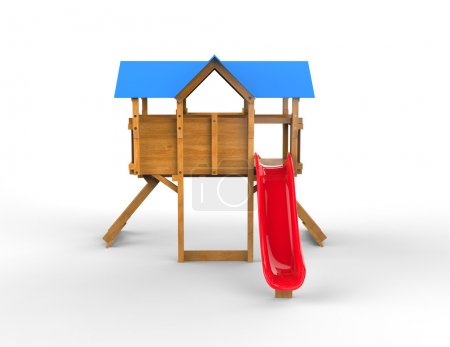 Kids playhouse - with red slide