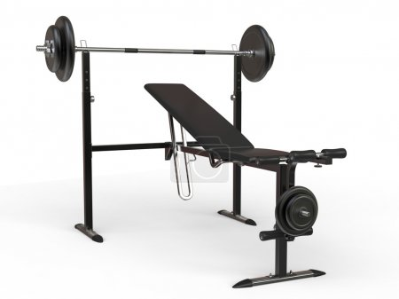 Incline bench with barbell weight