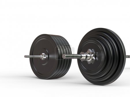 Olympic and barbell weights - closeup on weight plates