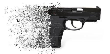 Photo pour Pistolet semi-automatique à dissolution - image libre de droit