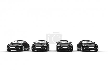 Cool Fast Cars - Black - Front View