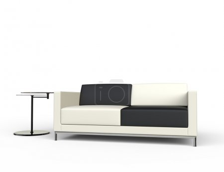 Photo for Sofa With Sidetable - Royalty Free Image