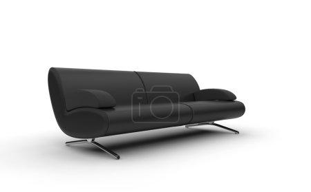 Photo pour Canapé moderne noir - image libre de droit
