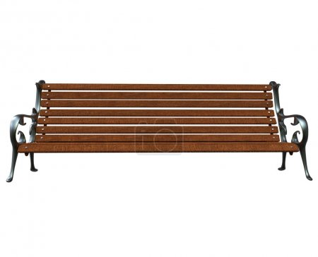 Park Bench - Front View