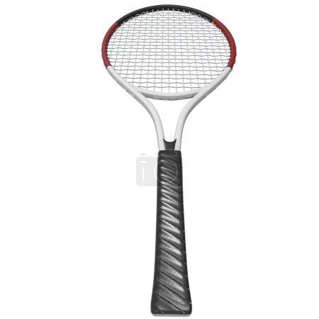 Tennis racquet - handle closeup