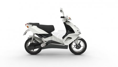 White Scooter - Left Side View
