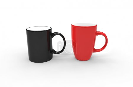 Black And Red Coffee Mugs