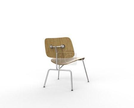 Photo pour Chaise en bois moderne - Vue du côté arrière - image libre de droit