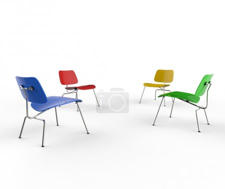 Colorful Chairs - Perspective Shot