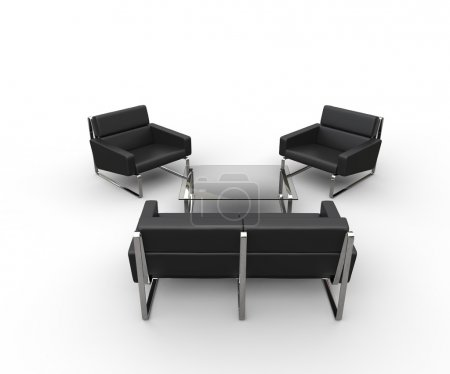 Leather Living Room Furniture - Top View