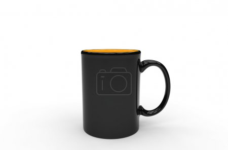 Black Orange Coffee Mug