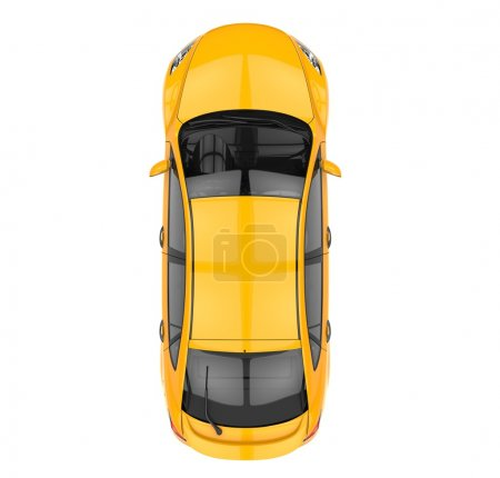 Photo for Yellow Car - Top View - Royalty Free Image