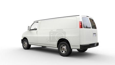 Photo pour Van blanc - Vue arrière - image libre de droit