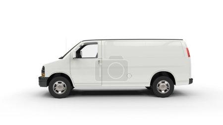 Photo pour Van blanc - Vue latérale - image libre de droit