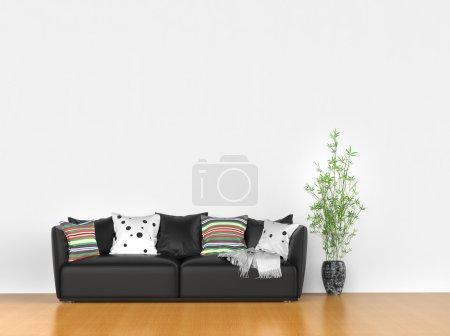 Photo pour Chambre simple avec canapé moderne - image libre de droit