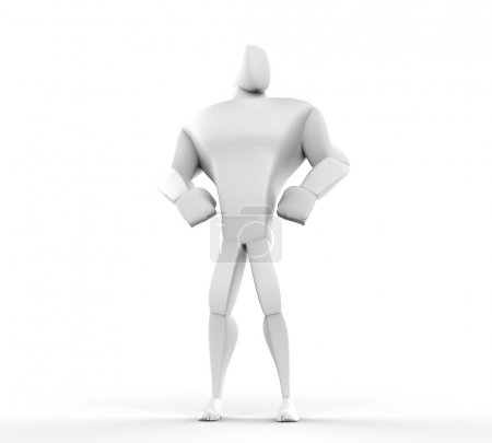 3D Athlete Hero Posing - front bottom view.