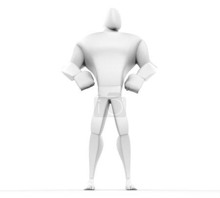 3D Hero Standing - bottom view.